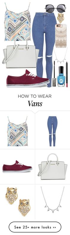 """""""Untitled #533"""" by cupcakes077 on Polyvore featuring Boohoo, Topshop, Michael Kors, Casetify, Vans, Burberry, Wood Wood, Sally Hansen and Kate Spade"""