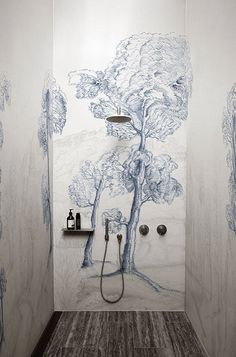 Decorative wallcoverings for bathrooms and shower rooms not only offer high visual appeal for their biophilic inspired designs (forbidden gardens, flora and fauna) but offer technical value in their innovative waterproof systems.