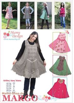 MARGO Damen-Schnittmuster, Kleid, Tunika