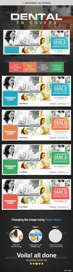 Dentist Facebook Cover Page — Photoshop PSD #promotions #web banner • Available here → https://graphicriver.net/item/dentist-facebook-cover-page/8154196?ref=pxcr