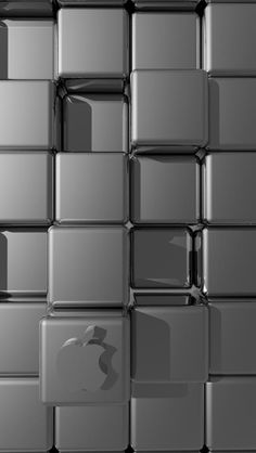 3D CUBES APPLE backgrounds for iphone 5