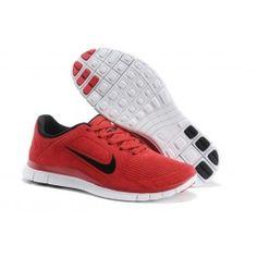 competitive price e332a d6362 Nike Free 4.0 Leder Männer Schuhe Rot Schwarz