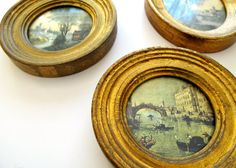 Italian Vintage Florentine Set of 3 Gilded by lifeonchurchill, $20.00