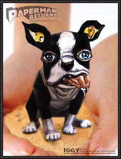 Jojo's Bizarre Adventure - Iggy The Dog Free Paper Toy Download - http://www.papercraftsquare.com/jojos-bizarre-adventure-iggy-dog-free-paper-toy-download.html