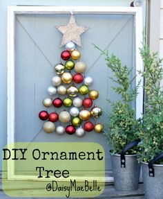 DIY:: So Easy And Fun -Ornament Tree !!