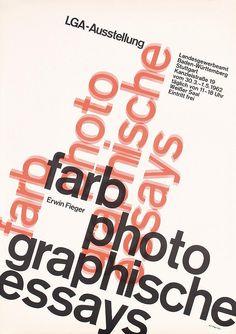 Herbert W. Kapitzki, exhibition poster farb photographische essays, 1962. Landesgewerbeamt Stuttgart