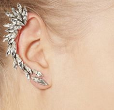 New Fashion white Silver Plated Gothic Women Cool Jewelry Angel Wings Rhinestone Alloy Stud Earrings Gifts 2016 new oorbellen
