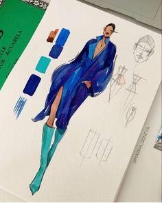 Fashion Model Sketch, Fashion Design Sketchbook, Fashion Design Drawings, Fashion Sketches, Next Fashion, Fashion Art, Sketchbook Layout, Clothing Sketches, Fashion Figures