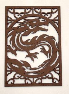 Escultura Dragão 1 MDF cru 350x245 |