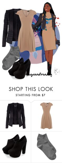 """""""Pocahontas- Disney University"""" by thequeenofreading ❤ liked on Polyvore featuring Disney, Balmain, Oasis and Gap"""