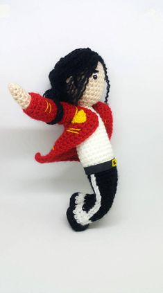 8964346c4b966 Michael Jackson - David Bowie - mj amigurumi - Freddie Mercury - the  beatles - stardust - gift for musician - Gifts for teachers - jackson