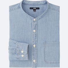 Discover the new selection of Casual Shirts at UNIQLO online. Casual Shirts For Men, Casual Button Down Shirts, Men Casual, Smart Casual, Banded Collar Shirts, Chambray Fabric, Fashion Essentials, Flannel Shirt, Uniqlo