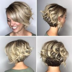 Two-Tone Curly Bob With Nape Undercut wavy hair 100 Mind-Blowing Short Hairstyles for Fine Hair Undercut Curly Hair, Thick Curly Hair, Thin Hair Haircuts, Undercut Hairstyles, Curly Bob Hairstyles, Short Hair Cuts, Nape Undercut, Curly Hair Styles, Curly Blonde