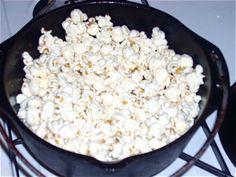 Old-Fashioned Popcorn!:  re-season your castiron