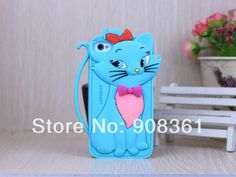 Free shipping Cute Cartoon Cat Animal Silicone Phone Case Cover for Iphone 4 4S $5.88. http://www.aliexpress.com/store/908361