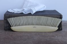 Vintage French Celluloid Lint Brush  Free shipping by vintagewall, $18.00
