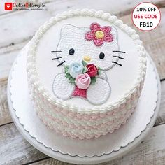 New cupcakes birthday cake girl hello kitty Ideas Hello Kitty Torte, Bolo Da Hello Kitty, Hello Kitty Birthday Cake, Hello Kitty Cupcakes, Cupcake Birthday Cake, Birthday Cake Girls, Cupcake Cakes, Rose Cupcake, Cartoon Cakes