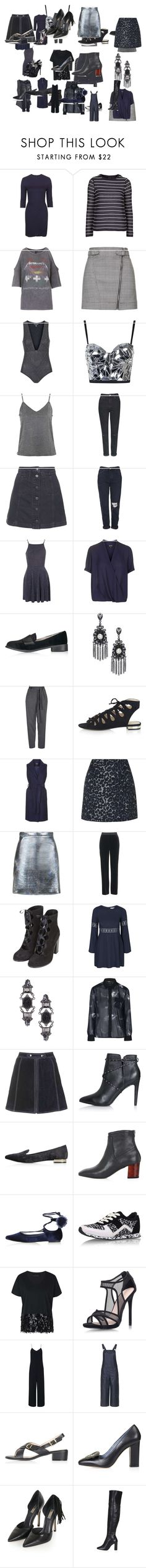 """Untitled #2863"" by luciana-boneca on Polyvore featuring beauty, Topshop, And Finally, Oh My Love, Rare London, Motel and Unique"