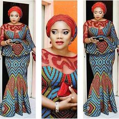 Hello Ladies: it's another Weekend! Time for Aso Ebi Blouse and Skirt Styles. Below are awesome and amazing blouse and skirt with lovely styles Latest African Fashion Dresses, African Print Dresses, African Dresses For Women, African Print Fashion, Africa Fashion, African Wear, African Attire, African Women, African Prints