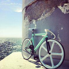 from where i ride! #trackbike #cycling #sea @leaderbikeusa - @Martijn imagehunters- #webstagram