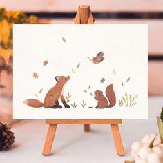 nature woodland animal tattoo robin fox squirrel