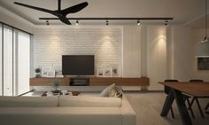 Image result for tv console with feature wall