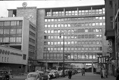 berlin 1960 Schimmelpfeng-Haus von der Kantstrasse aus.