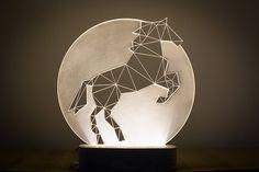 Full Moon horse lamp / Bedside Horse lamp / LED by SturlesiDesign