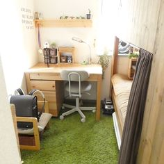 Desk Decor Ideas to Make Your Home Office. Are you looking for ways to spruce up your desk decor? These 30 home desk ideas will inspire you to decorate your study in a beautiful but functional way. Fill your desk with cute and unique accessories you love. Room Design Bedroom, Bedroom Layouts, Small Room Bedroom, Home Office Design, Home Office Decor, Home Interior Design, Architecture Desk, Tiny House Loft, Shared Bedrooms