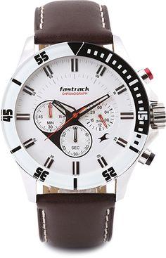Fastrack 3072SL01 White Round Dial Men's Analog Watch