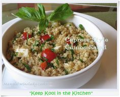 caprese style quinoa salad more caprese quinoa healthy eating sides ...