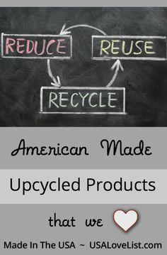 Upcycled products we love via USALoveList.com