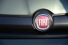 Fiat logo on a brand new #FiatPanda.