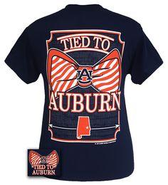 Auburn Tigers War Eagle Tied To Prep Bow Bright T-Shirt