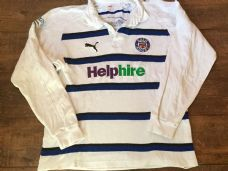 2008 2009 Bath L/s Away Rugby Shirt Adults Large Jersey