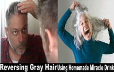 Get rid of gray hair with this amazing homemade drink! -           If you are beginning to feel your age, maybe it's time for you to take some action. Although growing old is a natural process, we don't have to quickly accept the marks of aging that begin to show on our face and body.  The graying hair, along with the wrinkles on your face, is not som... - Get rid of gray hair homemade drink, gray hair, Hair, Homemade, homemade drink - Hair, Health, health care, man, othe