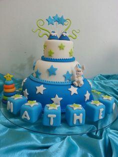 Torta de bautizo, para mi hijo Matheo