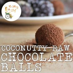 Coconutty raw chocolate balls: an amazingly delicious sugar-free treat that will satisfy your sweet tooth!