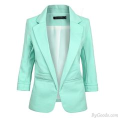 Candy Color Lapel Collar OL Rolled Sleeves Slim Jacket Female Suit  only $31.99 in ByGoods.com!