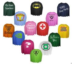 """The Dragons Den Fancy Dress - Super Hero Personalised 24"""" Capes Team Building Stag/Hen Party Community Heroes, £9.95 (http://www.thedragonsdenfancydress.co.uk/all-products/super-hero-personalised-24-capes-team-building-stag-hen-party-community-heroes/)"""