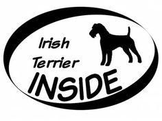 Hund Inside Auto AufkleberInside Aufkleber: Irish Terrier 1