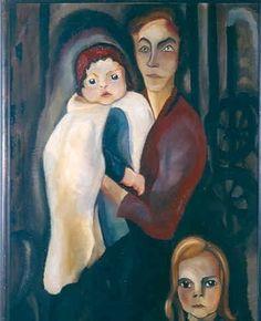 Charley Toorop, Arbeidersvrouw met twee kinderen, 1918.