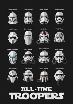 All the Clone Troopers - Stormtroopers and more.