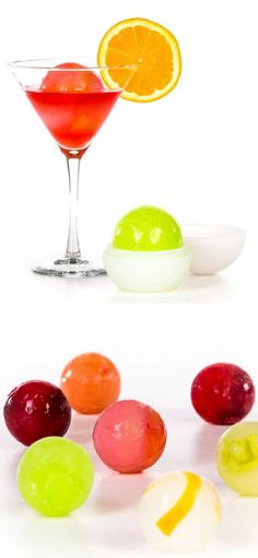 Glacier Ice Ball Molds - Create edible art in ice masterpieces by filling them with mint leaves, basil, fruits, juice, lemon or lime segments, and more!!! #healthy #fun