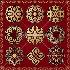 Элементы восточного стиля орнамент — Стоковая иллюстрация #11267943