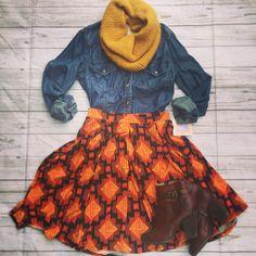LulaRoe Madison skirt fall fashion outfit Source by fashion lularoe Fall Fashion Skirts, Fall Fashion Outfits, 50 Fashion, Modest Fashion, Fasion, Autumn Fashion, Fashion Trends, Winter Outfits, Fashion Ideas