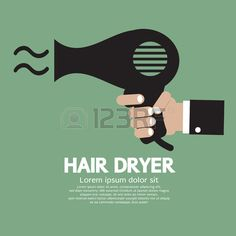 Illustration of Hair Dryer Vector Illustration vector art, clipart and stock vectors. Blow Dry, Medusa, Hair Dryer, Vector Art, Clip Art, Illustration, Jellyfish, Dryer, Illustrations