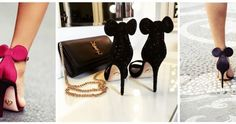 These are the heels that EVERYONE is putting on their Santa lists Minnie Mouse Heels, Santa List, Put On, Stuart Weitzman, Sandals, Style, Fashion, Swag, Moda