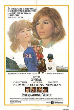 INTERNATIONAL VELVET (1978) - Tatum O'Neal - Christopher Plummer - Anthony Hopkins - Nannette Forbes - Written, Produced & Directed by Bryan Forbes - MGM - Movie Poster.