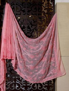 Shades Of Pink Chikankari Saree